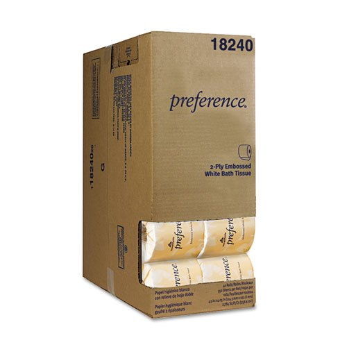 Georgia Pacific Professional Embossed Bath Tissue, Dispenser Box, 550 Sheets/Roll - 40 rolls.
