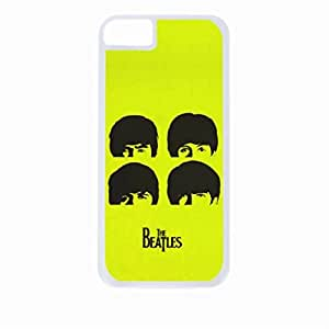 The Beatles-Silhouettes on Green- Hard White Plastic Snap - On Case with Soft Black Rubber Lining-Apple Iphone 4 - 4s - Great Quality!