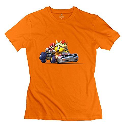 Mario Kart Game Hot 100% Cotton Orange Tee Shirt For Baby Size XXL