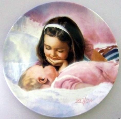 Donald Zolan Plate Sisterly Love 1989 Limited Edtion #3102A