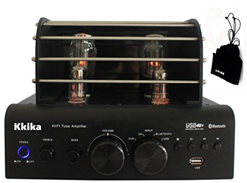 Kkika Tube Amplifier Black HI-FI Stereo Amplifier 38W2 Vaccum Tube AMP Support Bluetooth/USB/CD/DVD