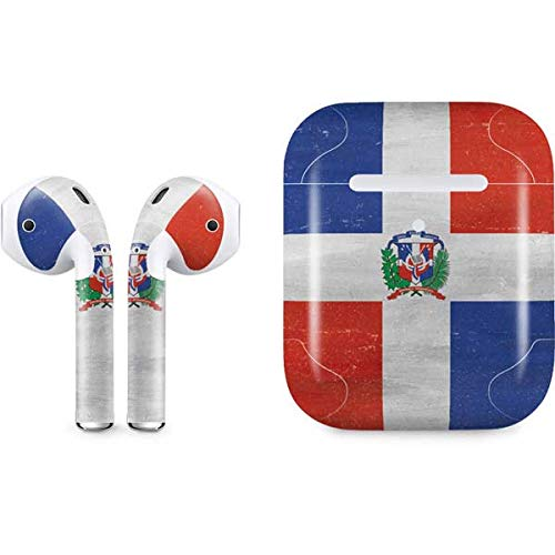 Dominican Republic Flag Faded Skin for Apple AirPods 2 | Skinit Countries of The World Decal Wrap to Cover AirPods 2 Case and Earbuds - Ultra Thin, Lightweight Vinyl Decal Protection
