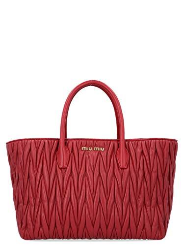 Miu Miu Red Bag - Miu Miu Women's 5Bg162vooon88f0041 Red Leather Handbag