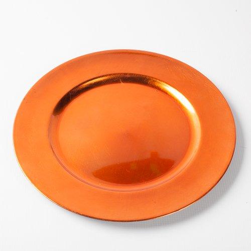 """Richland Round Acrylic Charger Plates 13"""" Orange Set of 12"""