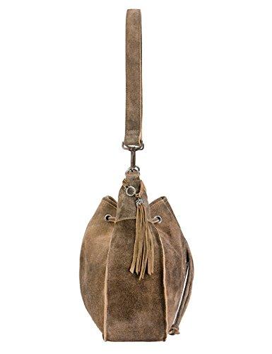 Stockerpoint Damen T-5010 Schultertasche, Braun (Hanf), 11x28x40 cm