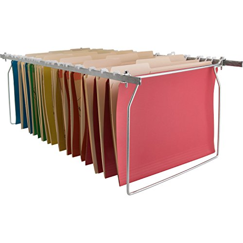 Sparco Hanging File Folder Frames Stainless Steel Letter Size Width and Adjustable Length ()