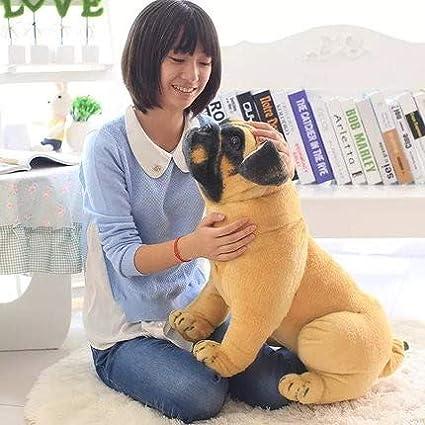 Tickles Brown Big Size Bull Dog Soft Stuffed Plush Toy 55 cm