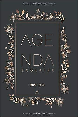 Agenda scolaire 2019 2020: Agenda semainier 2019/2020 | Août ...