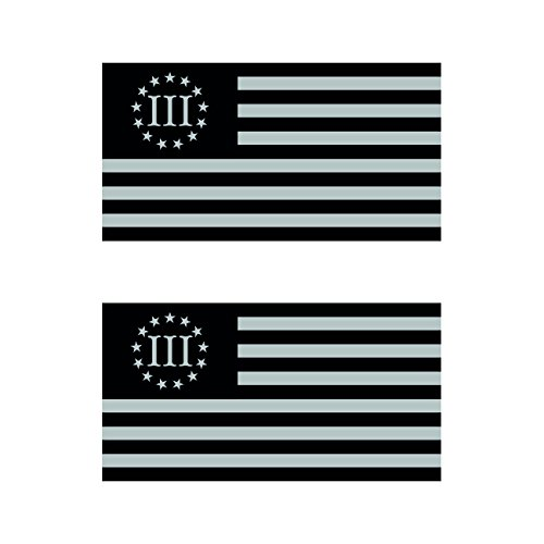 Two Pack Subdued 3 Percenter Nyberg Flag Stickers FA Graphix Vinyl Decal III 3/% 3 /% molon labe flags