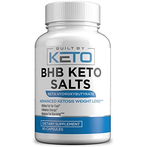 Keto BHB Salts Exogenous Ketones 800mg. Highest Potency – BHB Salts Supplement Pills for Ketogenic Diet – Ketosis, Energy & Fat Burner. Beta-Hydroxybutyrate Magnesium, Calcium, Sodium – 60 Capsules For Sale