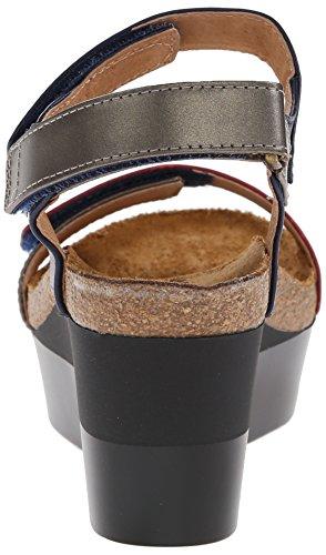 Naot Miracle Blue Sandal Wedge Women's qrP0I5wq