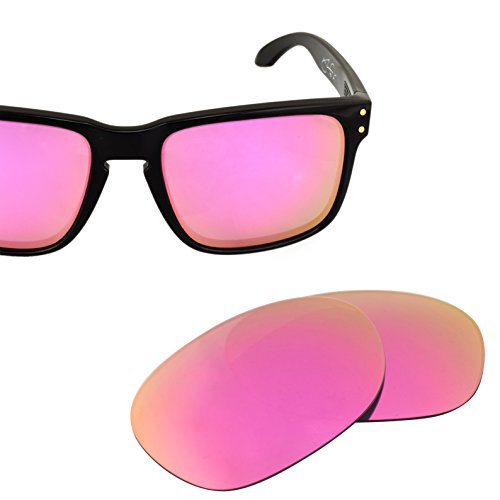 LenzFlip Replacement Lenses for Oakley HOLBROOK - Polarized with Pink Lady - Sunglass Okley