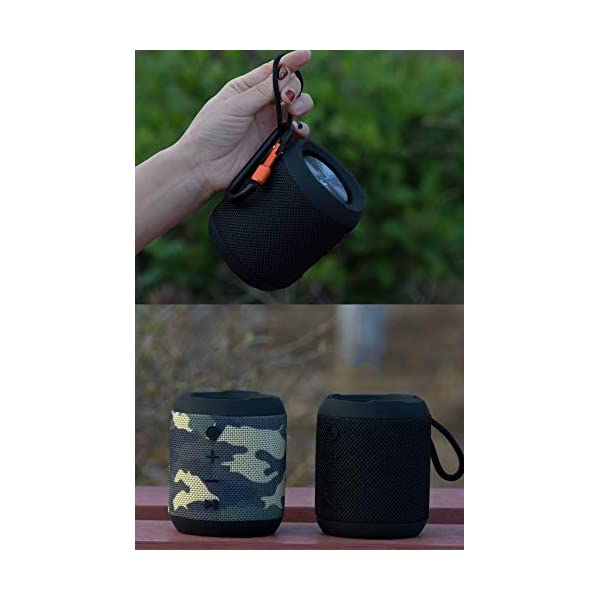 Haut-Parleur sans Fil Bluetooth, Mini Caisson de Basses Puissant et Portable, Bluetooth 4.2, pour l'extérieur, Le Sport, la Famille, Les Voyages et Les fêtes. 6