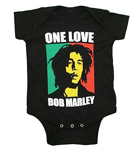 Bob Marley One Love Infant Baby Romper Snapsuit Onesie Black 18M ()
