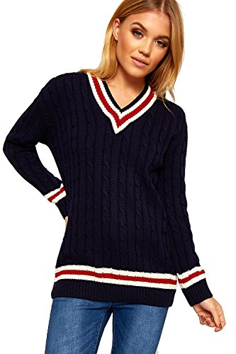 Red Pull Manches Longues Navy Cream MINNI ROSSA Femme xfw56nzE0q