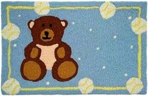 Teddy Bear and Baseballs-JellyBean Rug