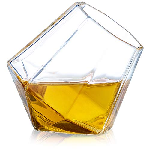Dragon Glassware Diamond Shot Glasses, Premium Designer Cups for Liquor, Spirits, 1.7-Ounces, Gift Boxed - Set of 2