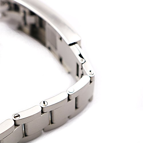 20mm Solid Curved End Screw Links Replacement Watch Band Oyster Bracelet For Deepsea by Generic (Image #6)