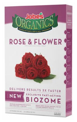 Jobes 09426 4 Lb Organic Rose & Flower Granular Fertilizer 3-5-3