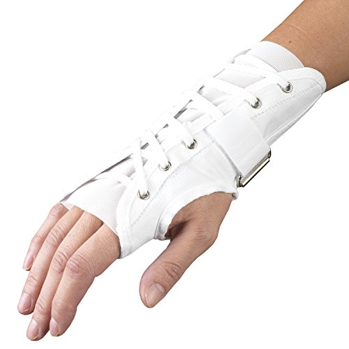 CHAMPION Wrist Split Reversible Adjustable Lacing Cloth, White, Small ()