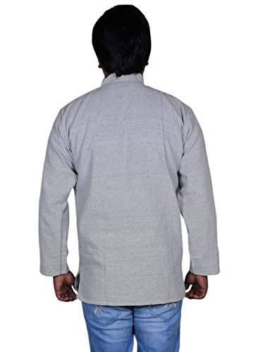 100% t-shirt de mode de vêtements en coton khadi - mens courtes en coton kurta