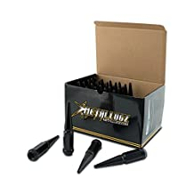 """Metal Lugz Spiked Lugz Black 9/16"""" thread 4.4"""" overall length kit contains 20 Lugs & 1 Key"""