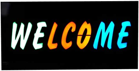 LED Neon WELCOME Sign for Business Displays, LED Light Waterproof