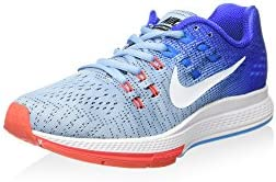 NIKE 806584-401 Women W AIR Zoom Structure 19 Blue Cap White Racer