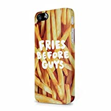 Fries Before Guys French Fries Pattern Apple iPhone 5, iPhone 5s, iPhone SE Plastic Phone Protective Case Cover