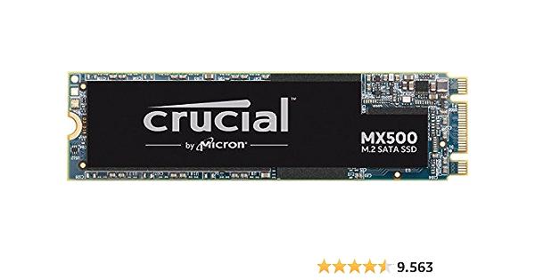 Crucial CT500MX500SSD4 MX500 M.2 - Unidad interna de estado sólido-hasta 560 MB/s, 500GB (M.2 2280SS, 3D NAND, SATA)