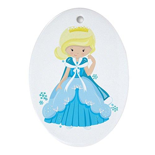 (Ornament (Oval) Ice Princess Snowflake)