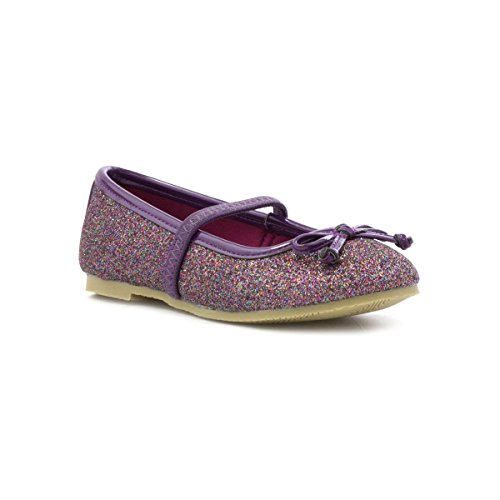 Lilley Sparkle Girls Purple Glitter Ballerina Shoe - Size 13 Child UK - Purple