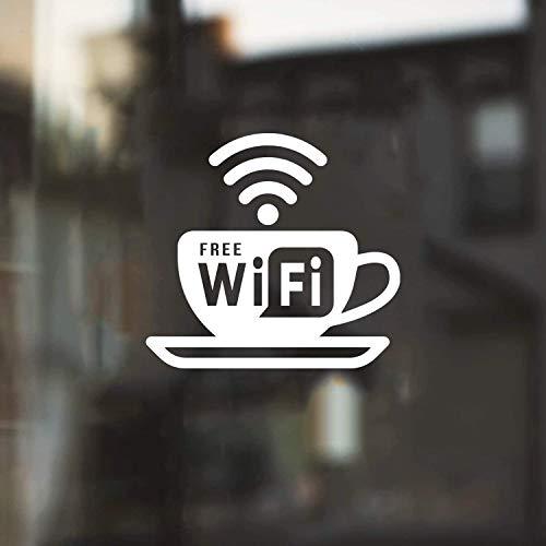 Vinyl Wall Art Decal - Free WiFi Sign - 5.5