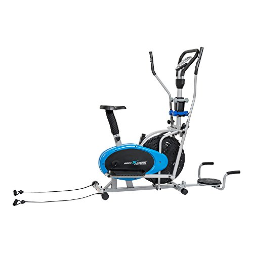 6-in-1 Body Xtreme Fitness Elliptical Trainer Exercise Bike – Home Gym Equipment, New Compact Workout Design, Ab Twister, Push Up Bars, Hand Weights, Resistance Bands + BONUS COOLING TOWEL ~ ON SALE! For Sale