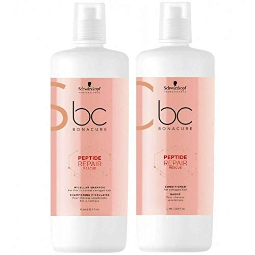 Schwarzkopf Shampoo And Conditioner - BC Bonacure REPAIR RESCUE Deep Nourishing Shampoo and Conditioner Set, 33.81-Ounce