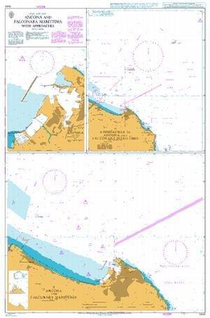 BA Chart 1444: Italy – East Coast, Ancona and Falconara Marittima with Approaches by UKHO