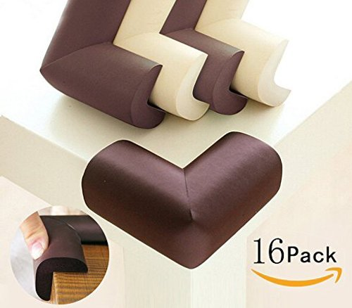 Baby Safety Proofing Caring Corners 16 Pack Safe Edge and Corner Cushion Home Furniture Safety Bumpers Toddler Table Protector DOMIRE