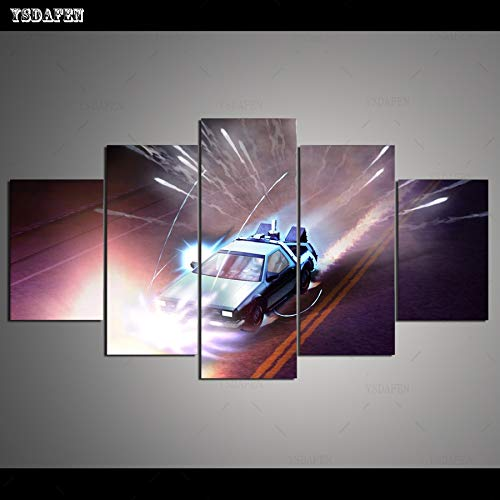 CANPIC HD 5 Paneles Arte de la Lona Regreso al Futuro 5 ...