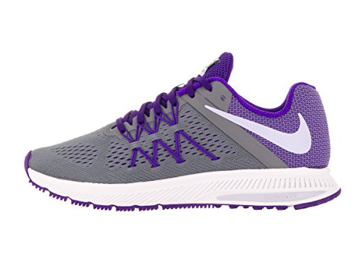Zapatillas Nike Mujeres Zoom Winflo 3 Cool Gray / Palest Purple / Fierce Purple