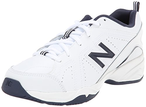 New Balance KX624 Youth Lace Up Training/Uniform Shoe (Little Kid/Big Kid),White/Navy,12 W US Little Kid (Navy Leather Youth Footwear)
