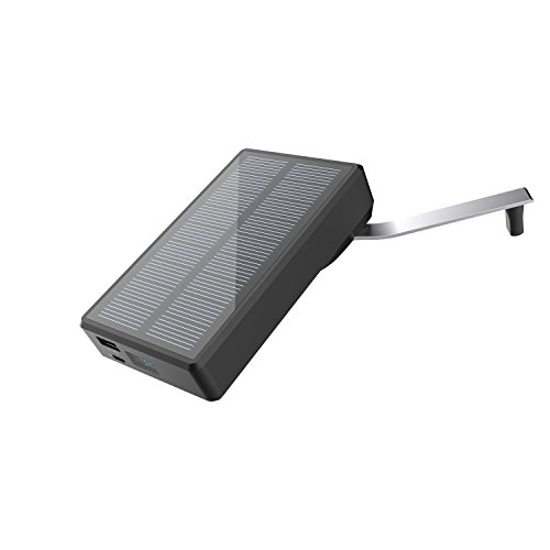 Hand Crank Solar Charger MAXOAK Solar Power Bank 7800mAh Portable External USB Battery Pack for Smartphone iPhone Samsung Android iPad GoPro Camera GPS Tablet & More-Recharge by Sun/USB/Crank …