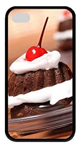 iphone 4 case Cake pc Black for Apple iPhone 4/4S