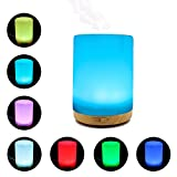 200ML Essential Oil Diffuser -Glowseen Aromatherapy Ultrasonic Cool Mist Humidifier with Colorful LED light Auto Shut-Off for Spa ,Home ,Kitchen and Office