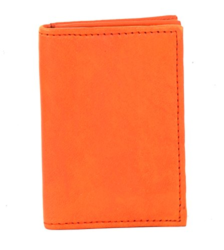 Small Travel Leather Gusseted Card Case Holder With Expandable Business Card (Leather Gusseted Card Case)