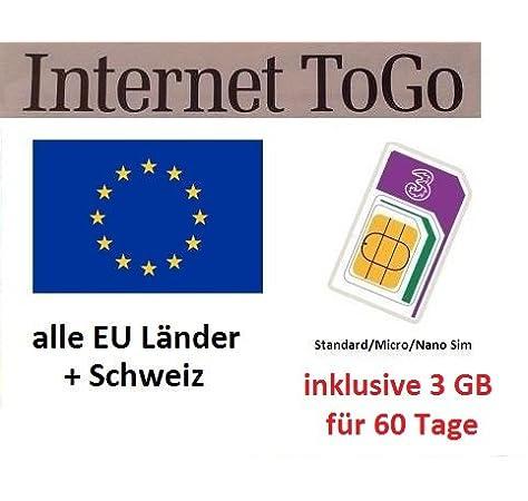 Prepaid datos tarjeta SIM (Internet móvil) para Italia, España, Francia, Austria, Suiza, Suecia, Dinamarca, Noruega, Finlandia, Reino Unido e Irlanda con 3 GB Saldo: Amazon.es: Electrónica