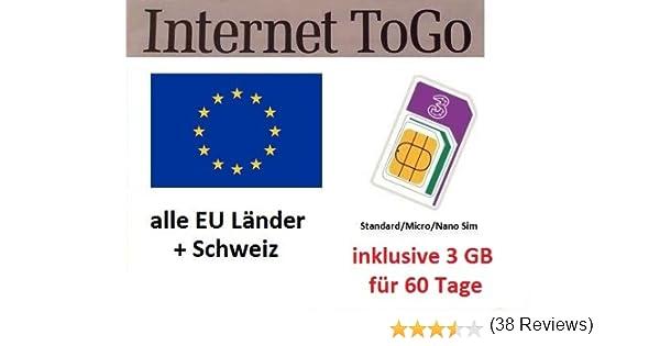 Prepaid datos tarjeta SIM (Internet móvil) para Italia, España ...