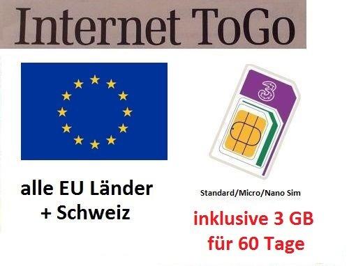 prepaid karte mit internet Prepaid Daten Sim Karte (mobiles Internet) für Italien, Spanien