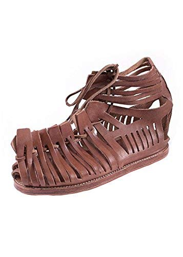 AnNafi Mens Gladiator Leather Sandal   Roman Centurian