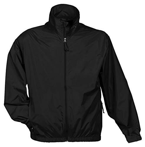 Tri Mountain Men's Lightweight Water Resistant Jacket, Black, XXX-Large
