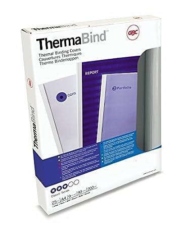 GBC IB370021 Copertine per Rilegatura Termica Standard, 3 mm, Confezione da 100, Bianco ACCO Brands